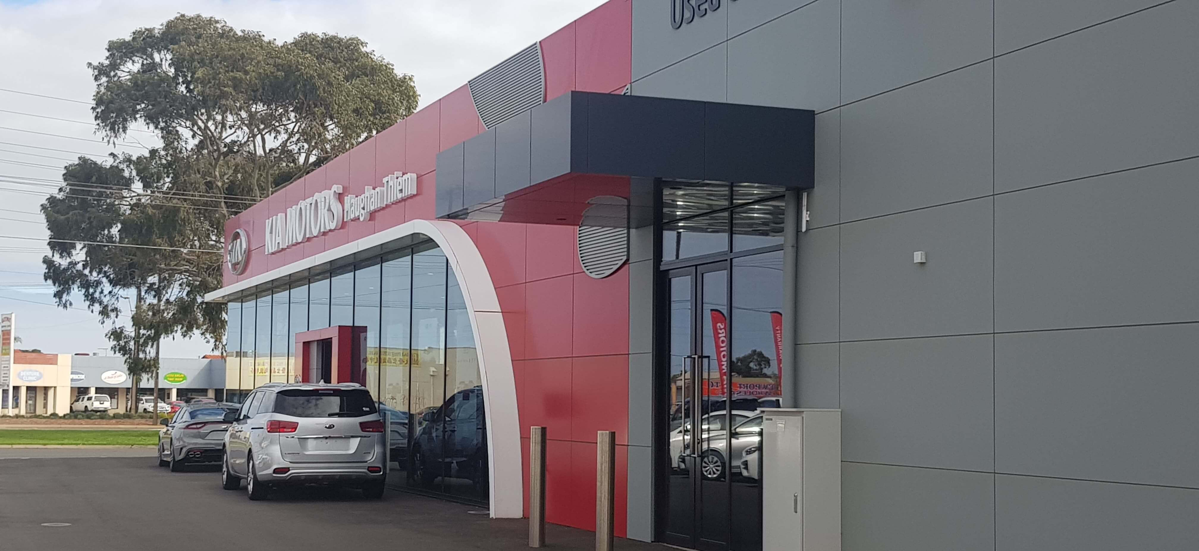 Asurco roofing and cladding at Kia motors